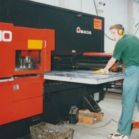 A second but first new Amada Arcade 210 turret punch was added to increase production.