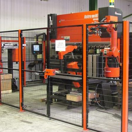 One of the first new generation of Amada's Astro100 NT Bending Cell was installed.