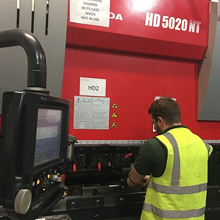 Two new Amada HD Press-Brakes added replacing the old HFB Press-Brakes.